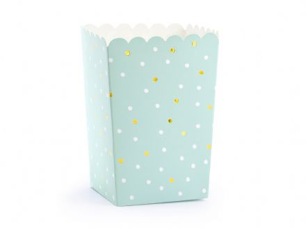 Mint Green Party Popcorn Boxes x6
